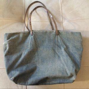 bcccb5406273 FENDI Bags - FENDI Vintage Boho Denim Shopper Tote Bag